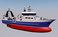 3D research ship ocean vessel