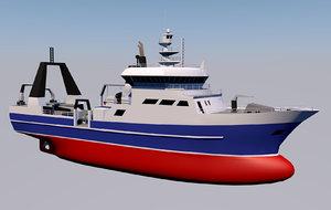 3D research ship ocean vessel