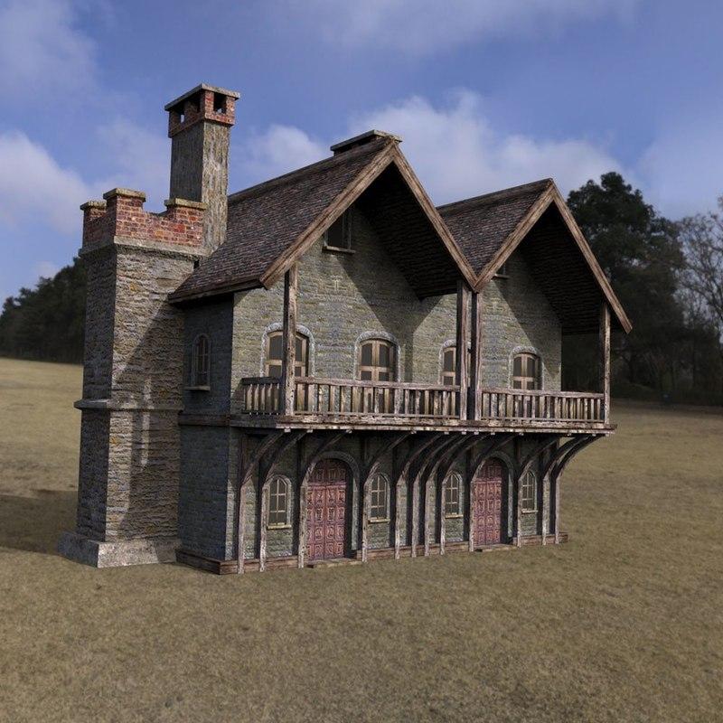 building fantasy daz studio 3D model