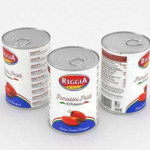 3D food tomato model