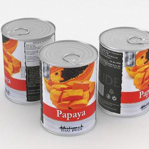 food papaya 3D model