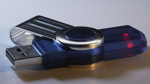 3D model usb pendrive