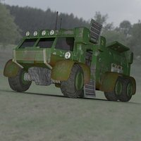 3D sci-fi truck transport daz model