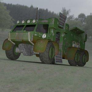 3D sci-fi truck transport daz model