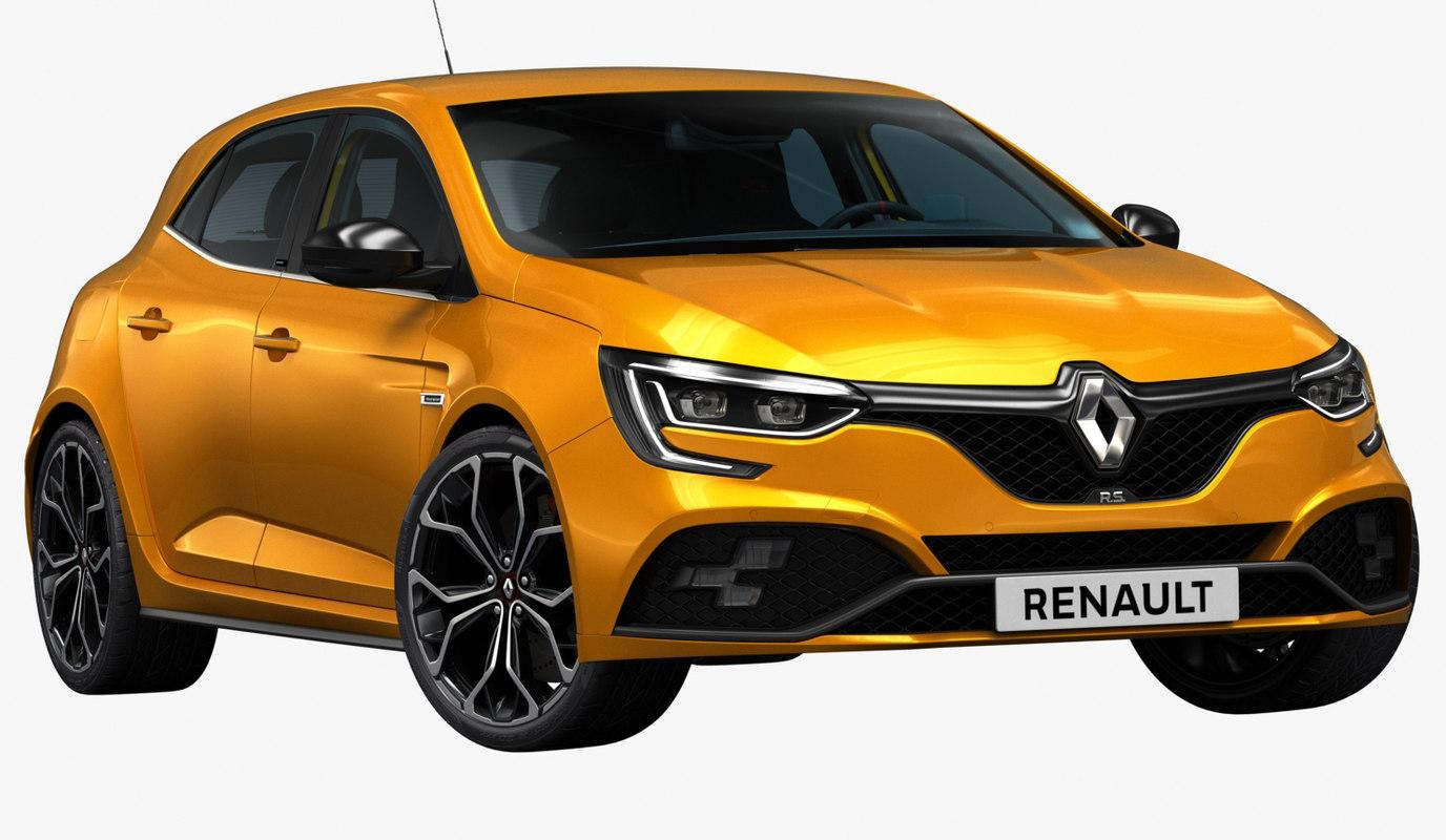 2018 renault megane rs 3D model