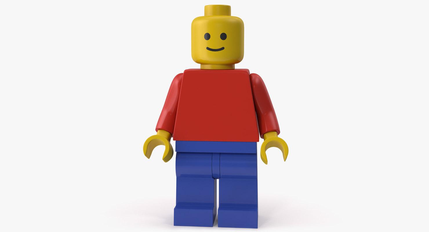 generic lego minifigure 3D