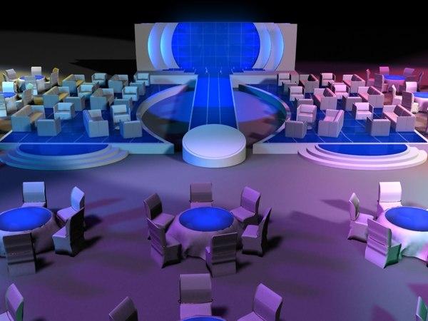 event setup exhibition 3D model