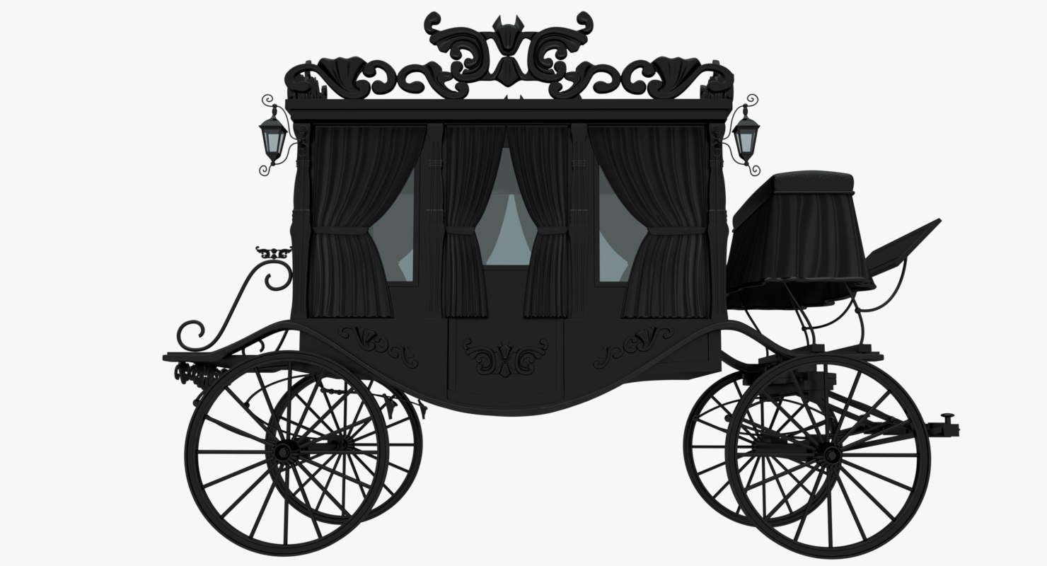 3D black carriage model