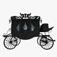 3D black carriage model