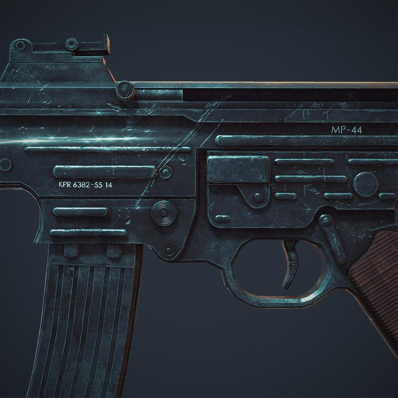 3D model ready assault rifle sturmgewehr