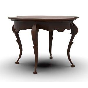 art nouveau coffee table 3D