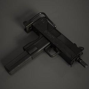 smg gun unity 3D model