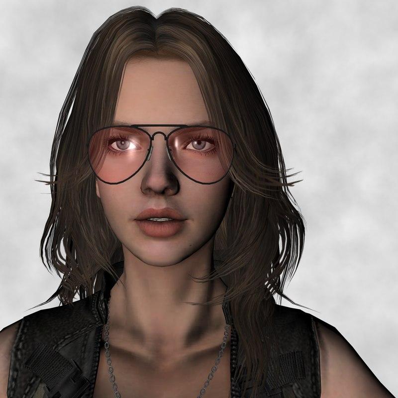 3D warrior girl