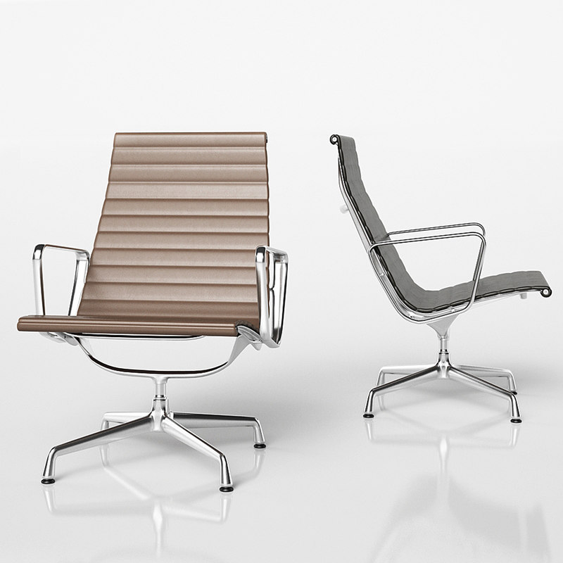 aluminium ea 115 vitra chair 3D model