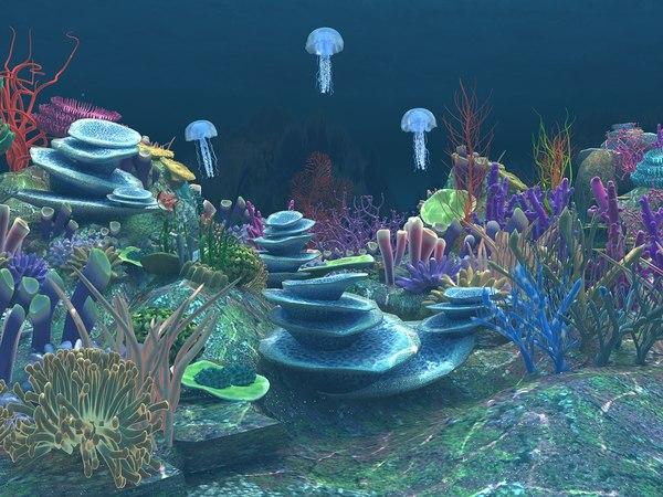 3D underwater scene