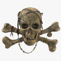 pirate skull model