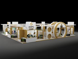 stand exhibition booth 1 3D