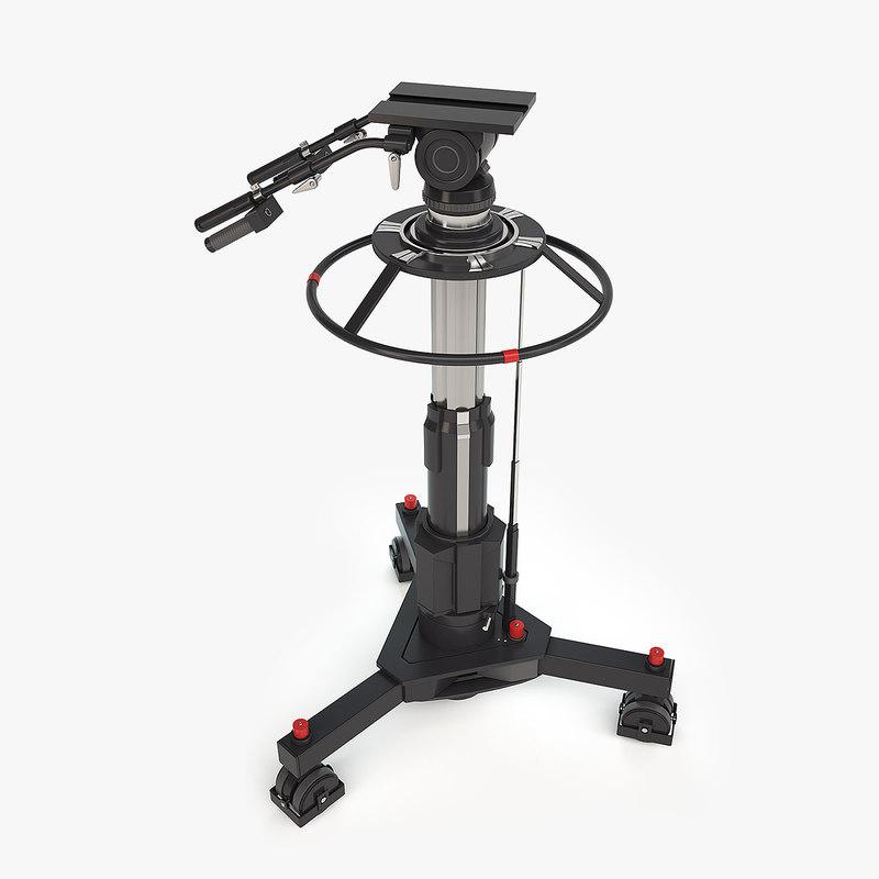 3D tv camera pedestal
