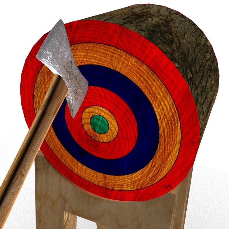 3D axe target model