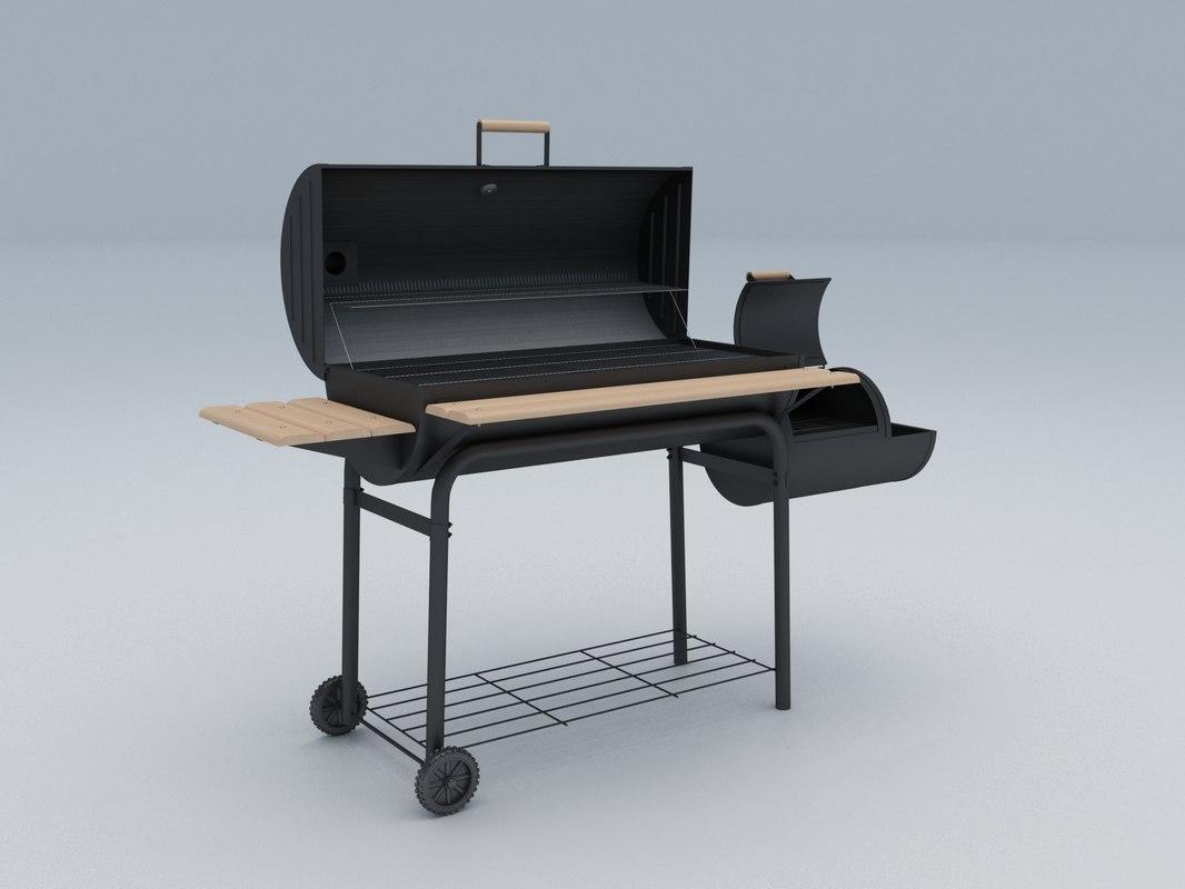 3D model bbq grill