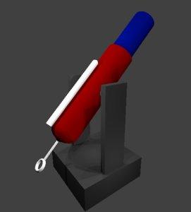 naval cannon 3D model