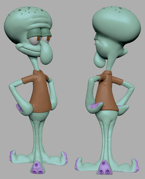 squidward ready 3D model