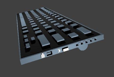 portable keyboard 3D model