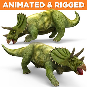 triceratops rigged animation 3D model