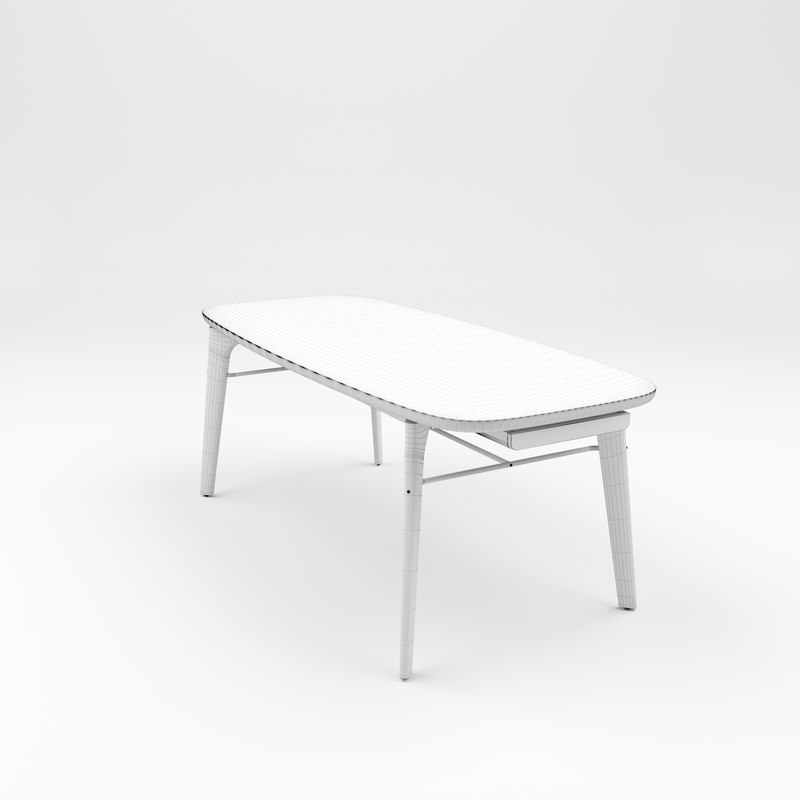 stellar works utility dining table 3D model