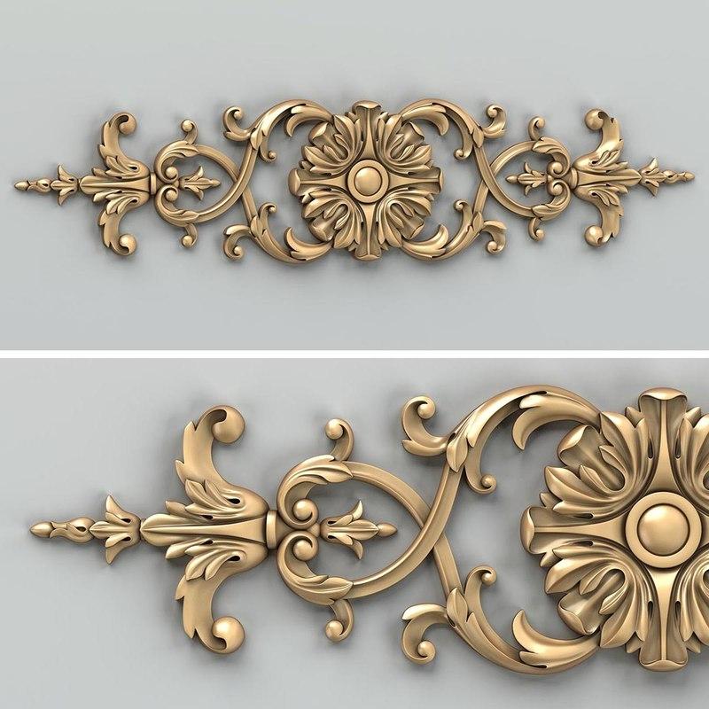 3D carved horizontal decor