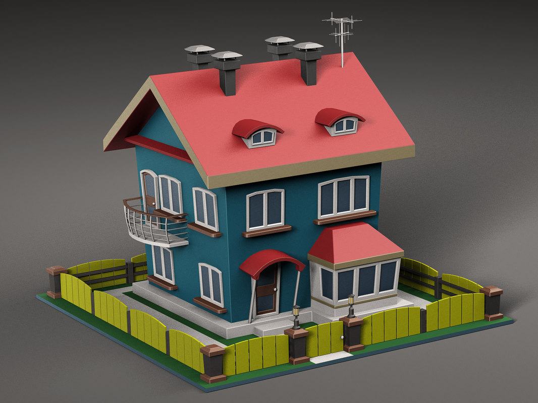 3D cartoon house v2 model