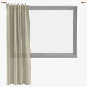3D modern curtains open