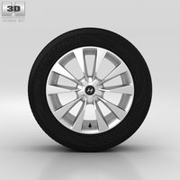 3D hyundai wheel