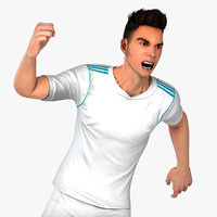 White Soccer Player HQ 001