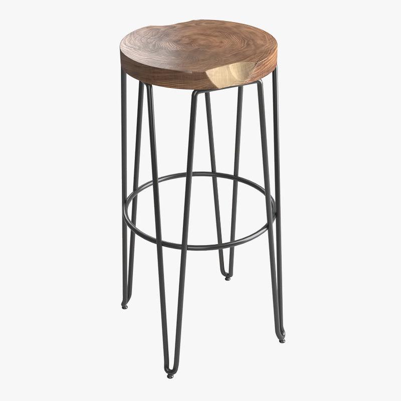 bar stool 1 3D