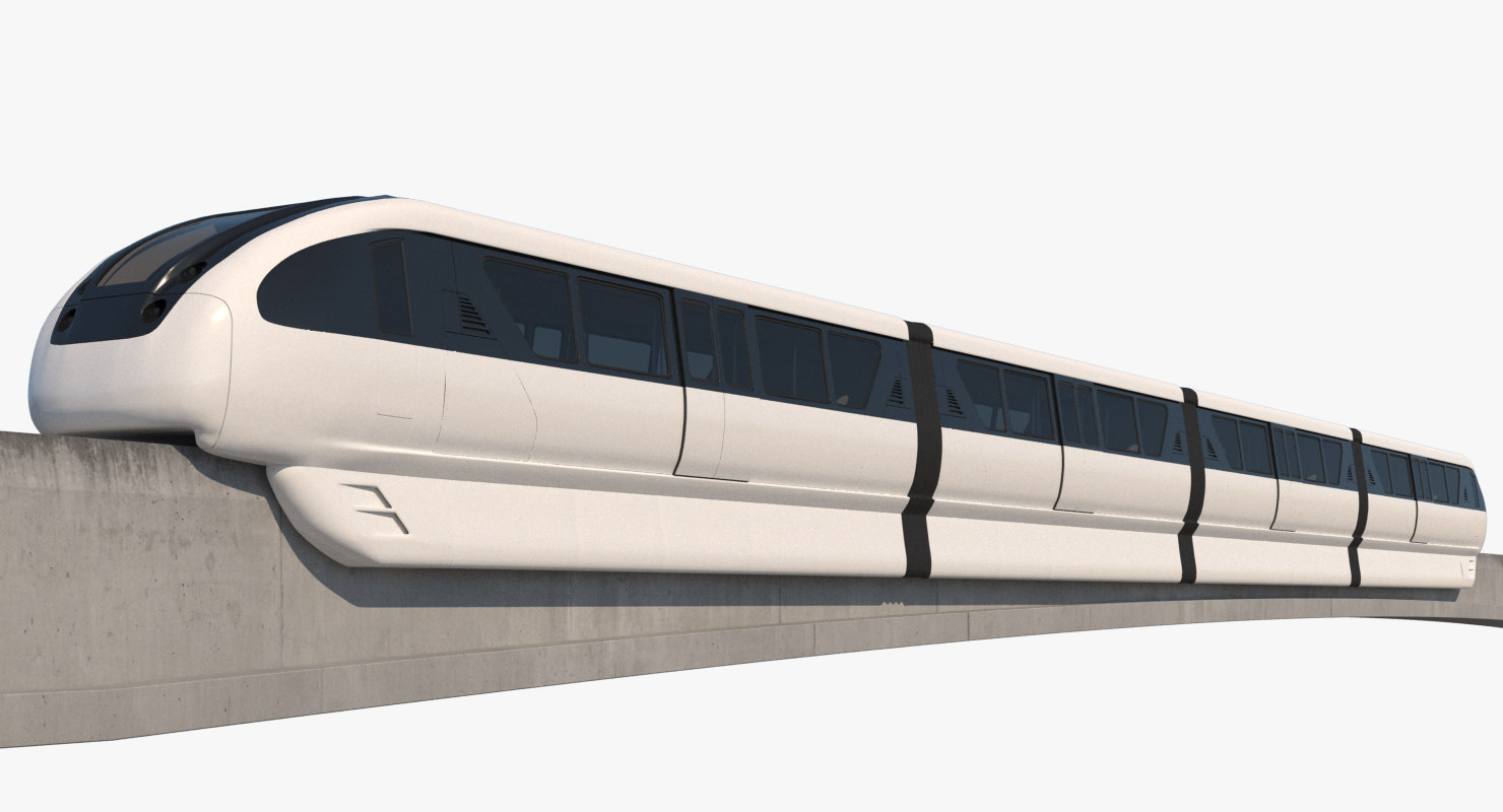 3D monorail realistic model