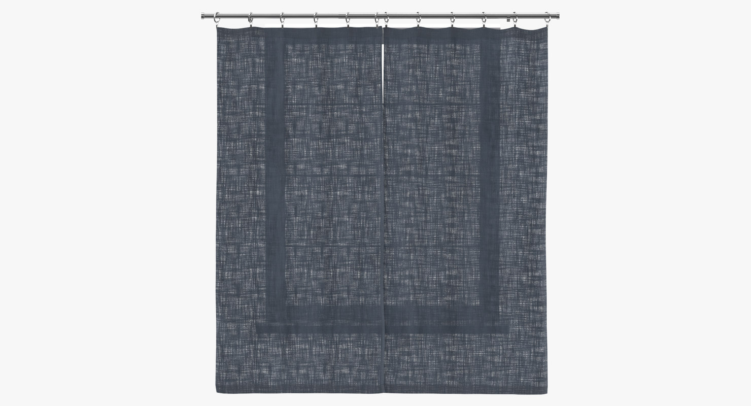 contemporary curtains closed 3D model