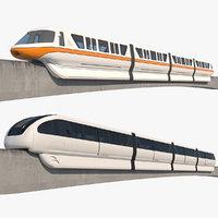 3D monorails realistic
