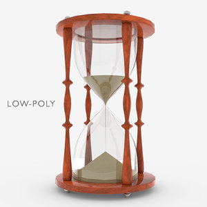 3D model hourglass high-poly