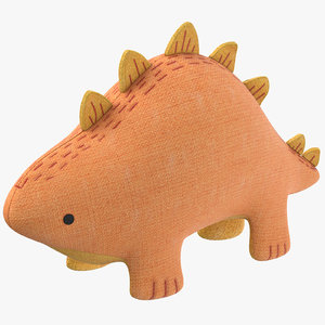 stuffed dinosaur 3D model