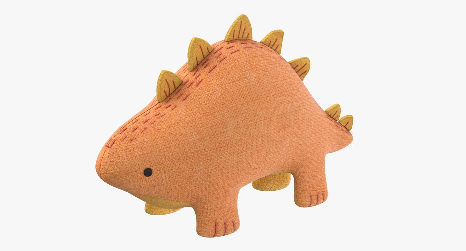 stuffed dinosaur 3D model