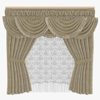 3D classical curtains