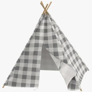 3D childrens indoor play tent model