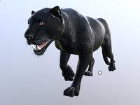black panther animation model