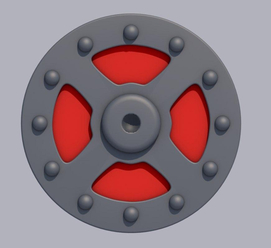 3D shield heman he-man model