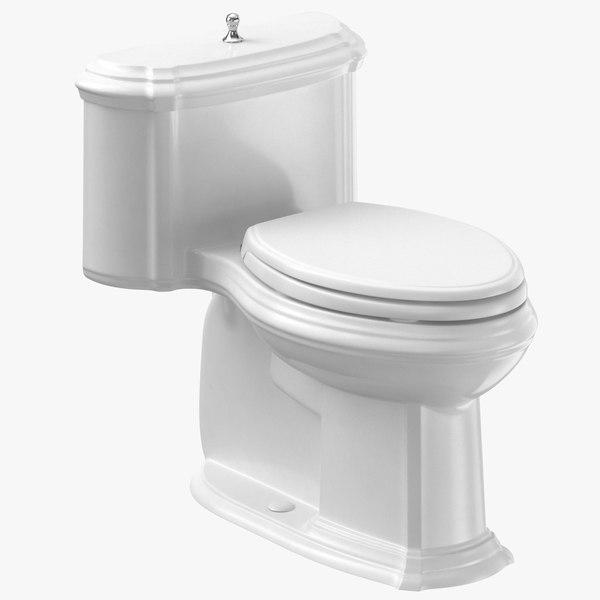 classical toilet closed 3D model