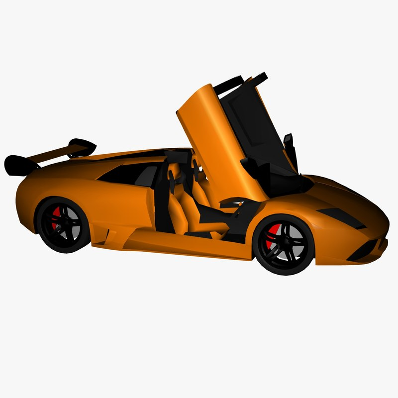 3D model vehicles lp640 spyder s
