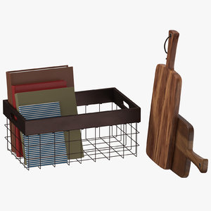 3D kitchen decor set 01