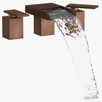 3D modern bathroom sink fixture model