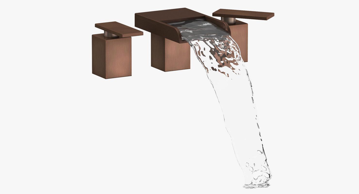 3D modern bathroom sink fixture model